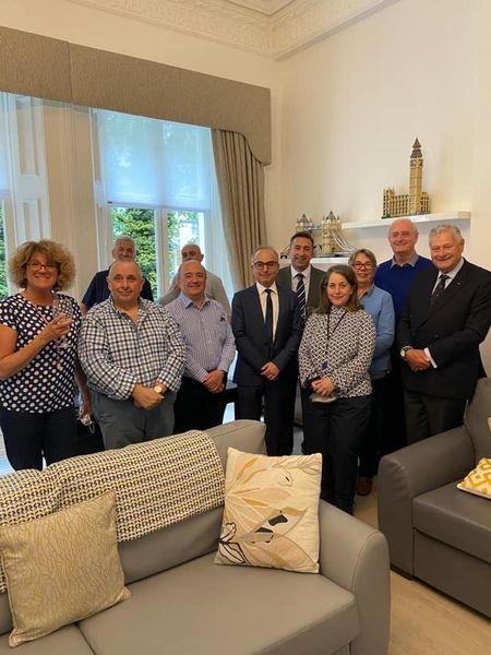Minister Daryanani visits Calpe House London.